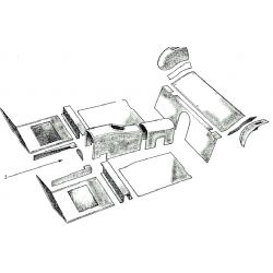 SET TAPIS (17 pièces ) MIDGET COULEUR FEUILLE D AUTOMNE