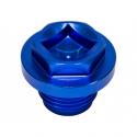 Bouchon alu bleu radiateur et  pont defender / range rover classic / discovery 1